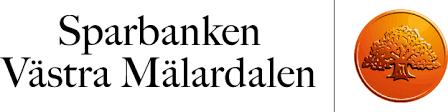 Text Sparbanken Västra Mälardalen tillsammans med kronan som har eken i sig